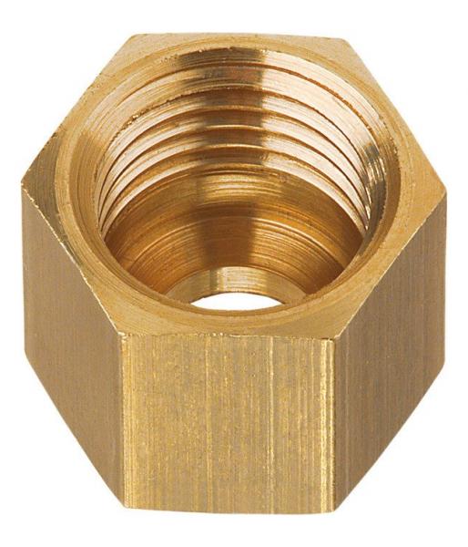 Gok Überwurfmutter 8 mm Messing